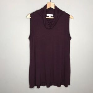 TWO BY VINCE CAMUTO cowl neck sleeveless blouse